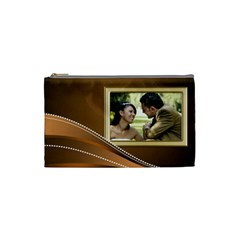 Golden Small Cosmetic Bag By Deborah   Cosmetic Bag (small)   I30cs8q69ys2   Www Artscow Com Front