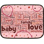 Mini_Blanket_pink - Fleece Blanket (Mini)