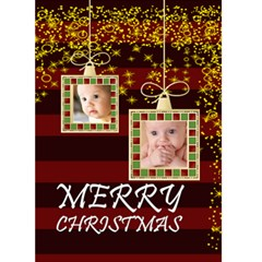 Christmas Card By Joely   Greeting Card 5  X 7    Z9ceujwvmpgy   Www Artscow Com Front Cover