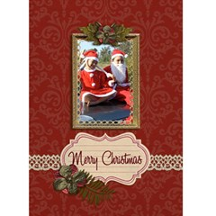 Greeting Card 5  X 7    Merry Christmas By Jennyl   Greeting Card 5  X 7    Ogc29sxosohe   Www Artscow Com Front Cover