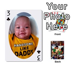 Daddy Cards By Jas   Playing Cards 54 Designs   Xonnja7d0zt5   Www Artscow Com Front - Club3