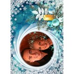 Ice Blue Christmas Card 7x5 - Greeting Card 5  x 7