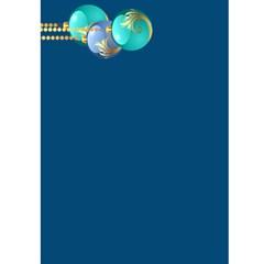 Ice Blue Christmas Card 7x5 By Deborah   Greeting Card 5  X 7    Bq58t6sv0htb   Www Artscow Com Front Inside