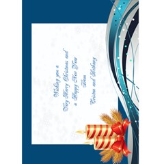 Ice Blue Christmas Card 7x5 By Deborah   Greeting Card 5  X 7    Bq58t6sv0htb   Www Artscow Com Back Inside