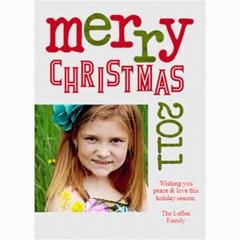2011 Chirstmas Card By Lana Laflen   5  X 7  Photo Cards   Bvl2g7ia3x7o   Www Artscow Com 7 x5 Photo Card - 3