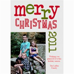 2011 Chirstmas Card By Lana Laflen   5  X 7  Photo Cards   Bvl2g7ia3x7o   Www Artscow Com 7 x5 Photo Card - 5