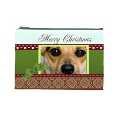 Christmas By Joely   Cosmetic Bag (large)   Pc7vi081forg   Www Artscow Com Front