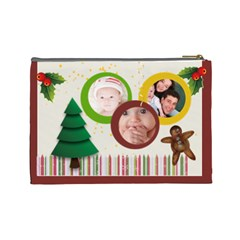 Christmas By Joely   Cosmetic Bag (large)   Bmufekm59mnv   Www Artscow Com Back