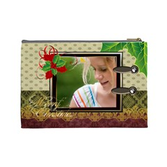 Christmas By Joely   Cosmetic Bag (large)   I5o9hc8oq4xf   Www Artscow Com Back