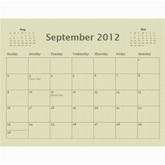 Calendar 2012 By Shal Shahani   Wall Calendar 11  X 8 5  (12 Months)   4c9pfpk5pa33   Www Artscow Com Sep 2012