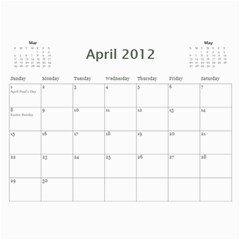 Calender Project 2012 By Juliana Gunardi   Wall Calendar 11  X 8 5  (12 Months)   98nwit7duz44   Www Artscow Com Apr 2012