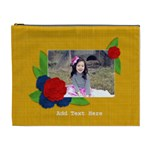 Cosmetic Bag (XL)- Red Flower