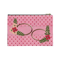 Cosmetic Bag (large) : Pink Love By Jennyl   Cosmetic Bag (large)   43ie4ydeex16   Www Artscow Com Back