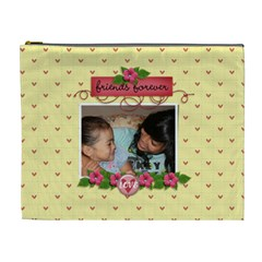 Cosmetic Bag (xl): Friends Forever By Jennyl   Cosmetic Bag (xl)   Sukezr5916xr   Www Artscow Com Front
