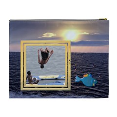 Ocean Memories Xl Cosmetic Bag By Lil    Cosmetic Bag (xl)   Y6fmprs57xyl   Www Artscow Com Back