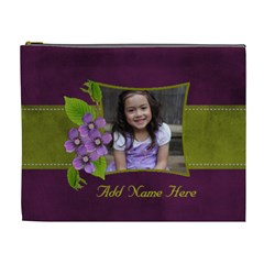 Cosmetic Bag (xl): Purple And Green 2 By Jennyl   Cosmetic Bag (xl)   9tn8w2415q7i   Www Artscow Com Front