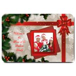 Merry Christmas Large Door Mat (red) - Large Doormat