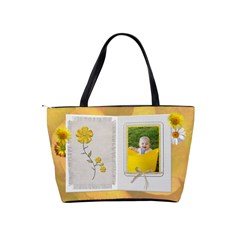 Yellow Floral Brag Classic Shoulder Handbag By Lil    Classic Shoulder Handbag   Evsoqknf93vn   Www Artscow Com Back