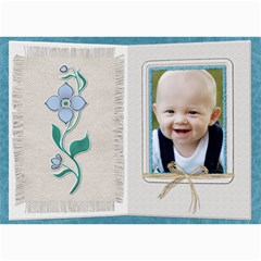 Pretty Blue Floral 5x7 Photo Card By Lil    5  X 7  Photo Cards   E2t000x05fxs   Www Artscow Com 7 x5 Photo Card - 2
