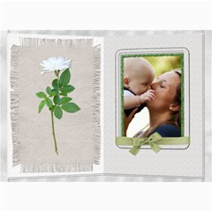 Pretty White Floral 5x7 Photo Card By Lil    5  X 7  Photo Cards   V2umdhyjc0o2   Www Artscow Com 7 x5 Photo Card - 7