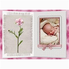 Pretty Pink Floral 5x7 Photo Card By Lil    5  X 7  Photo Cards   Epjc8w1eeepj   Www Artscow Com 7 x5 Photo Card - 8