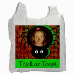 Trick or Treat Recycle Bag by Amanda Bunn - Recycle Bag (One Side)