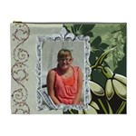 green flowered extra large cosmetic bag - Cosmetic Bag (XL)
