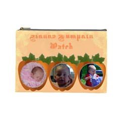 Pumpkin Patch Large Cosmetic Bag By Kim Blair   Cosmetic Bag (large)   Mhl8xqa2t45c   Www Artscow Com Front