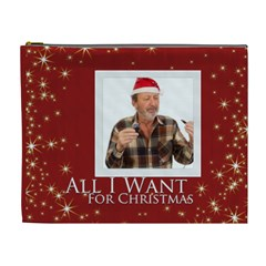 All I Want For Christmas By May   Cosmetic Bag (xl)   Dc6i0dkozuam   Www Artscow Com Front