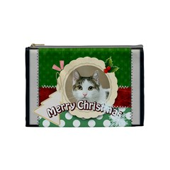 Merry Christmas By Joely   Cosmetic Bag (medium)   49fp53karv4a   Www Artscow Com Front