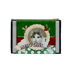 Merry Christmas By Joely   Cosmetic Bag (medium)   49fp53karv4a   Www Artscow Com Back