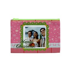 Merry Christmas By Joely   Cosmetic Bag (medium)   8tue3ov24sd3   Www Artscow Com Front