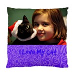 purple cat pillow - Standard Cushion Case (Two Sides)