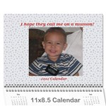 mission calendar 2012 - Wall Calendar 11  x 8.5  (12-Months)