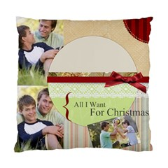 Merry Christmas  By Joely   Standard Cushion Case (two Sides)   B6wncfdg9ogq   Www Artscow Com Front