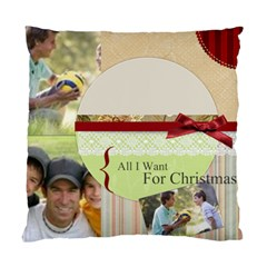 Merry Christmas  By Joely   Standard Cushion Case (two Sides)   B6wncfdg9ogq   Www Artscow Com Back