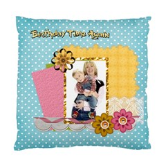 Happy Birthday By Joely   Standard Cushion Case (two Sides)   D3uryqx88df7   Www Artscow Com Back