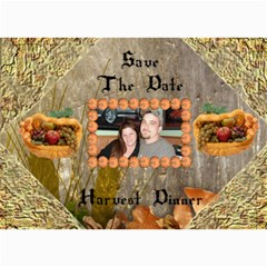 Harvest Dinner Invitation By Kim Blair   5  X 7  Photo Cards   Lxieobwjzsbj   Www Artscow Com 7 x5 Photo Card - 1