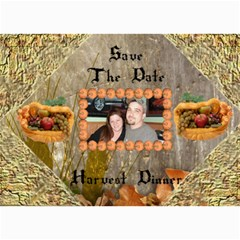 Harvest Dinner Invitation By Kim Blair   5  X 7  Photo Cards   Lxieobwjzsbj   Www Artscow Com 7 x5 Photo Card - 3