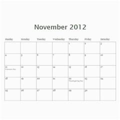 2012 Memory Calendar 12 Month By Laurrie   Wall Calendar 11  X 8 5  (12 Months)   Gd2zmbxwlr52   Www Artscow Com Nov 2012