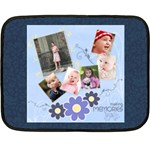 Serenity Blue Mini Fleece Blanket - Fleece Blanket (Mini)