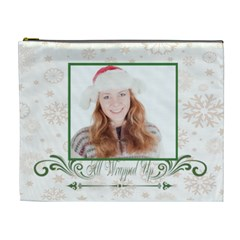 Merry Christmas By May   Cosmetic Bag (xl)   Zvnmgl70gqm5   Www Artscow Com Front