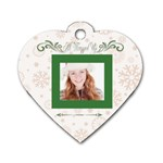merry christmas - Dog Tag Heart (One Side)
