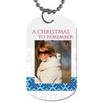 christmas - Dog Tag (One Side)