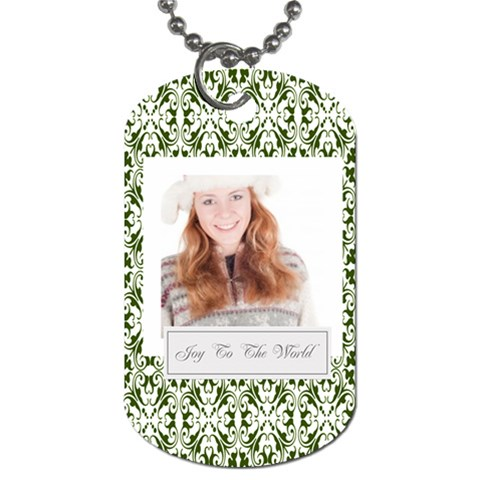 Christmas By May   Dog Tag (one Side)   Urpi4diq72y5   Www Artscow Com Front