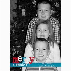 Merry & Bright Christmas Card By Lana Laflen   5  X 7  Photo Cards   3cljhj3ebf4r   Www Artscow Com 7 x5 Photo Card - 1