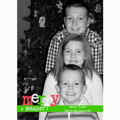 Merry & Bright Christmas Card By Lana Laflen   5  X 7  Photo Cards   3cljhj3ebf4r   Www Artscow Com 7 x5 Photo Card - 3