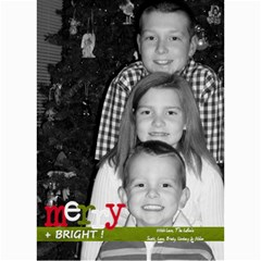 Merry & Bright Christmas Card By Lana Laflen   5  X 7  Photo Cards   3cljhj3ebf4r   Www Artscow Com 7 x5 Photo Card - 5