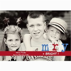 Merry & Bright Christmas Card By Lana Laflen   5  X 7  Photo Cards   3cljhj3ebf4r   Www Artscow Com 7 x5 Photo Card - 8