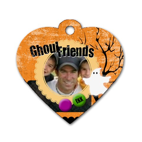 Halloween By Joely   Dog Tag Heart (one Side)   Iuk6ae2jh08q   Www Artscow Com Front